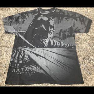 Vintage 90s 1992 Batman Returns AOP Tee T -Shirt L